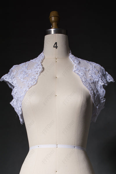 White lace wedding bolero bridal jacket