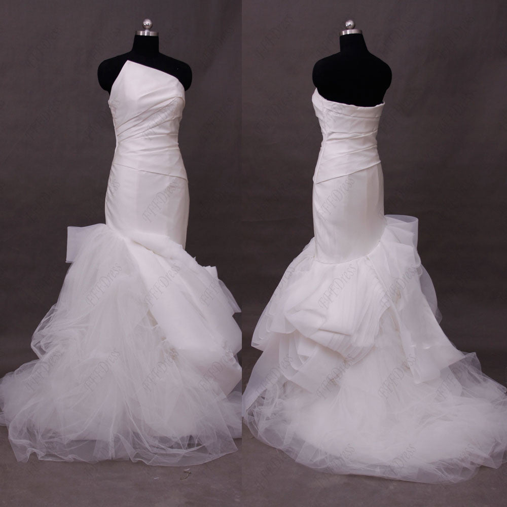 Mermaid  wedding dresses pick up skirt