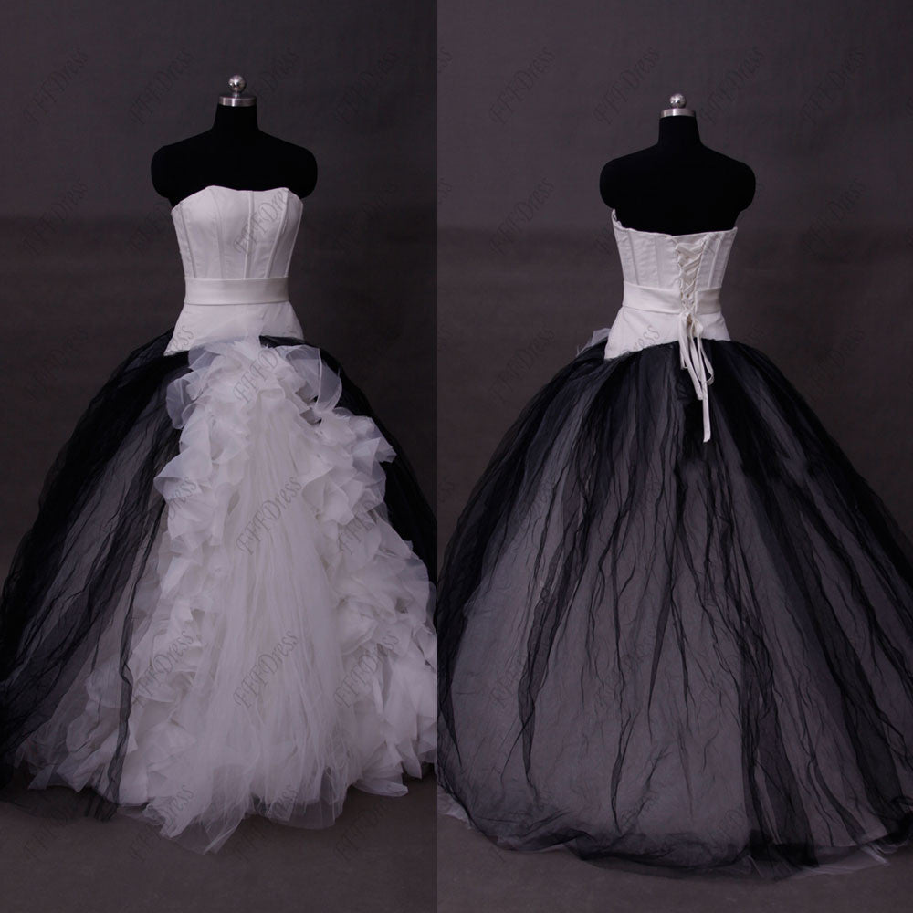 Black and white ball gown wedding dresses – MyPromDress