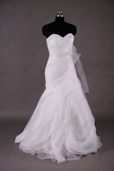 Sweetheart Mermaid wedding dress with sash