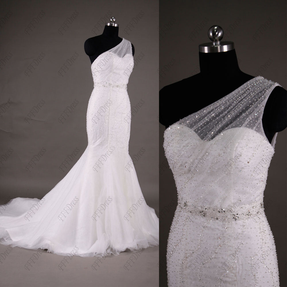 Beaded mermaid wedding dresses