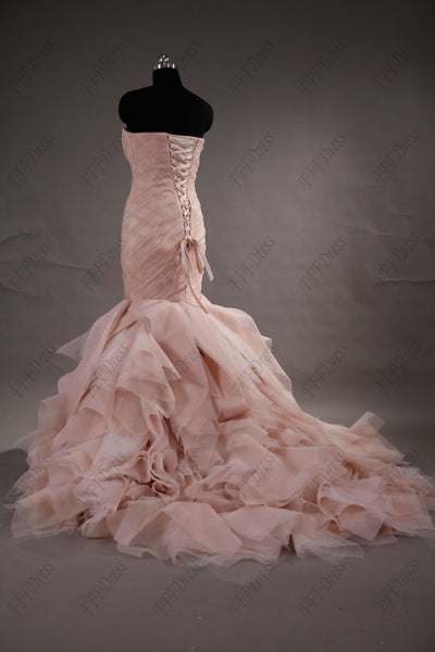 Blush mermaid wedding dresses