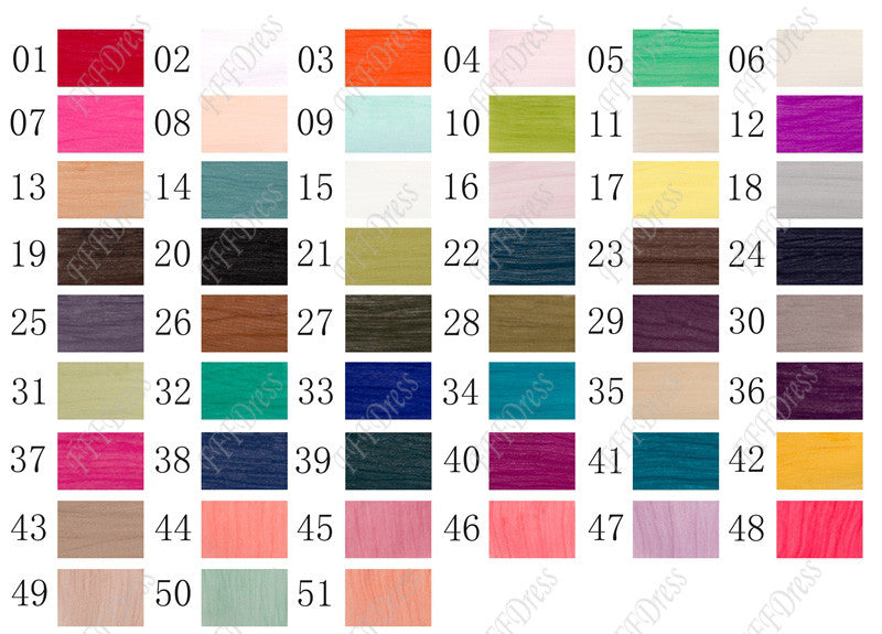 Pleated silky chiffon color swatch
