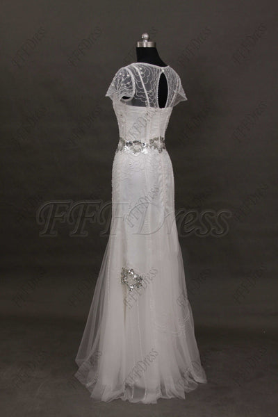 Beaded mermaid wedding dresses beach wedding dress