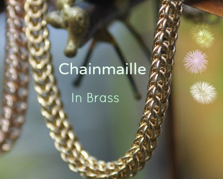 Rings of fine metal weaved into Chainmaille bracelets
