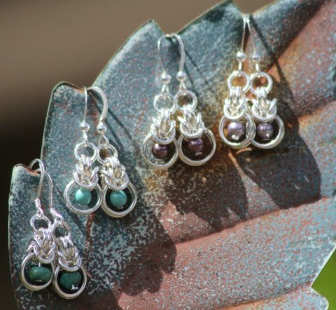 Discover Beautiful Earrings made from silver metal rings