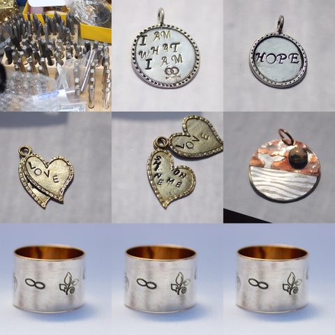 Personalized stamped metal jewelry for everyone you care for