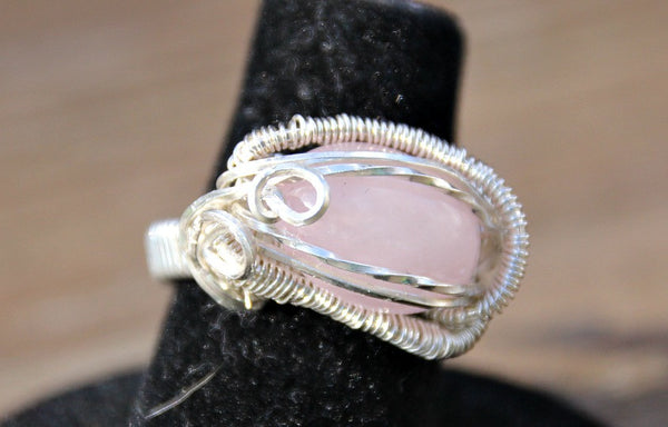 Wire wrapped rings of Sterling Silver, Gold filled or combinations of these wires