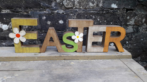 Wooden Freestanding Easter Plaque