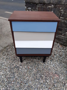 Teak Gradient Chest of Drawers