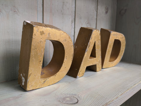 Original Gold Shop Lettering - DAD