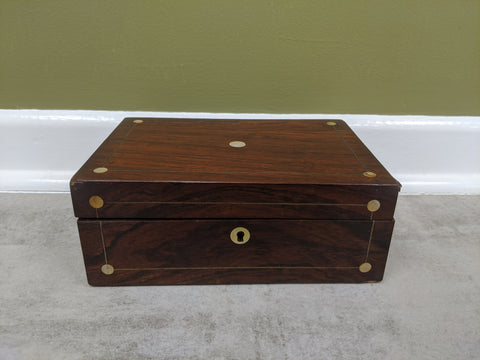 Rosewood and Mother Of Pearl Jewellery Box