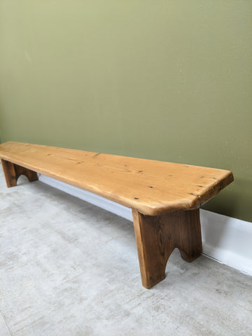 Vintage Pine Church Foot Rest