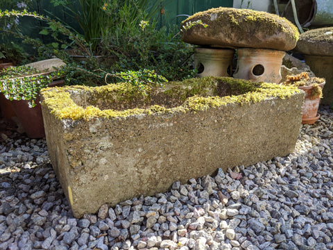Pressed Concrete Trough Planter