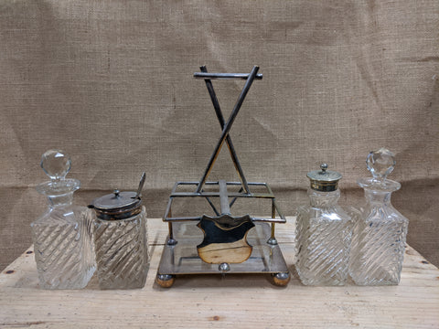 EPNS & Glass Cruet Set