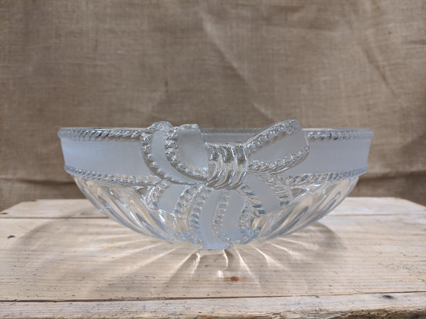 Heavy Cut Glass Fruit Bowl