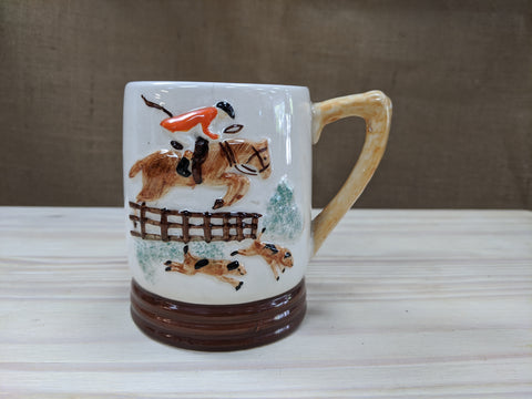 Hand Painted Hunting Scene Mug
