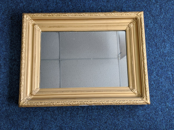 Rectangular Gold Framed Mirror