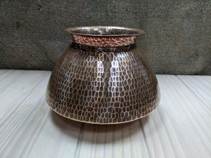 Hammered Copper Pot Vase