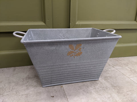 Galvanised National Trust Rectangular Bucket Planter