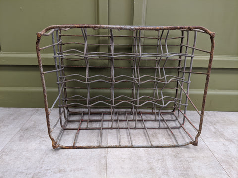 Retro Metal Milk Bottle Crate