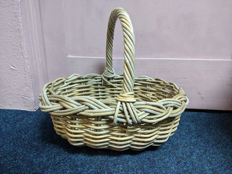 Oval Rattan Grocery Basket