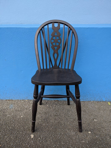 Hand Stained Wheel Back Chair