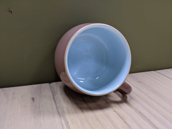 Set of 6 Blue & Brown Teacups by Langley