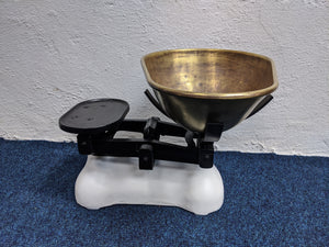 Rustic Cast Iron and Brass Kitchen Scales