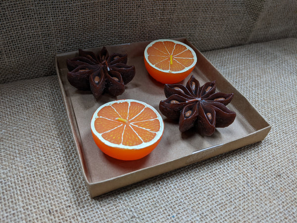 Citrus Segment or Aniseed Star Candle