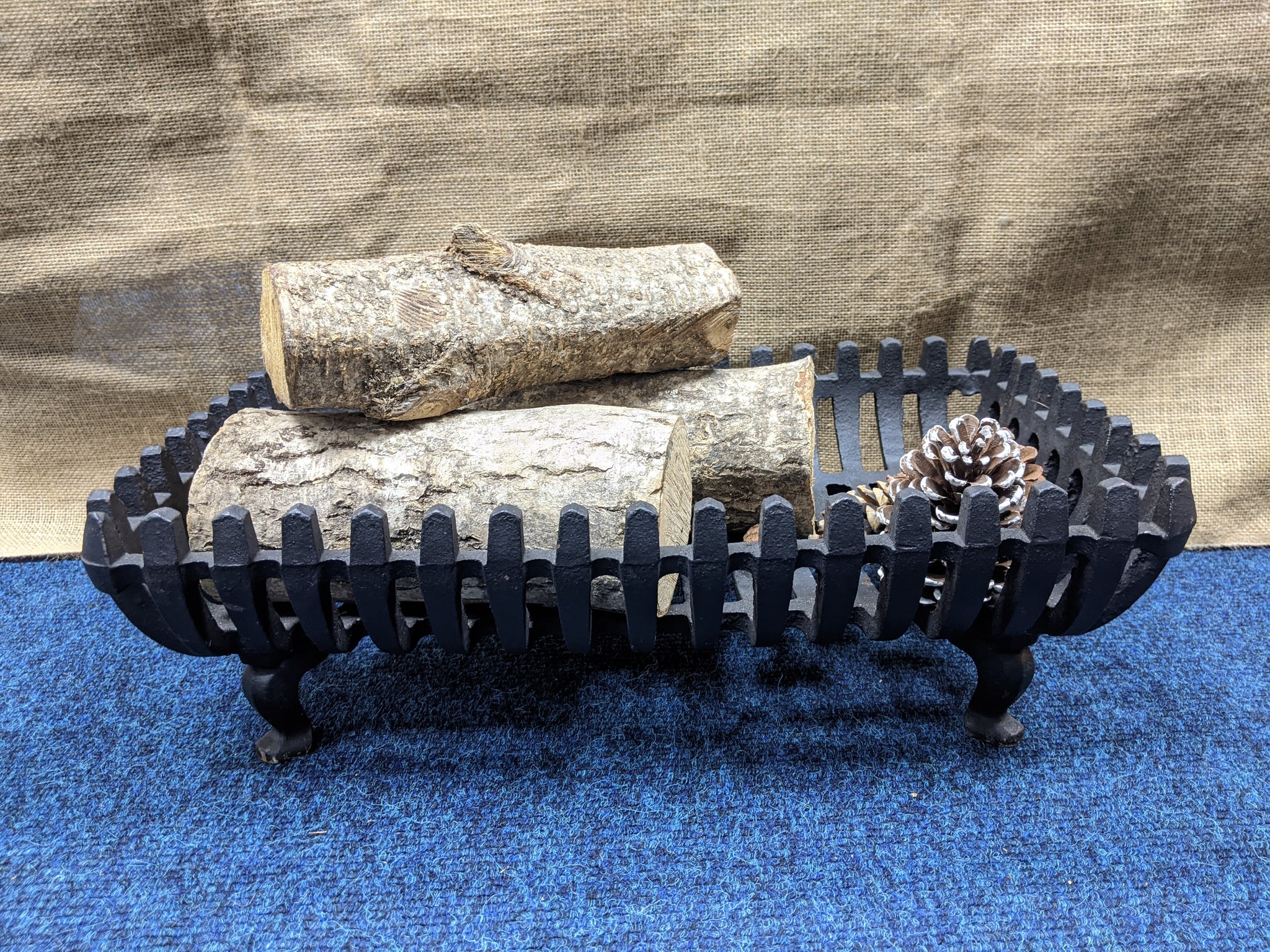 Large Cast Iron Fire Basket