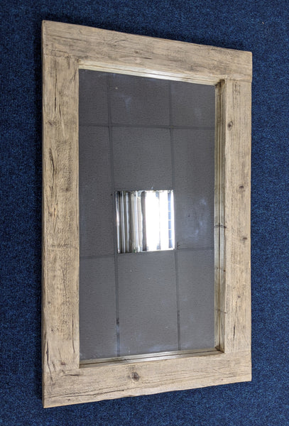 Chunky Rustic Wooden Framed Mirror