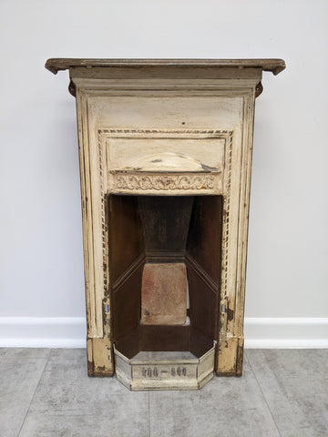 Vintage Cast Iron Shabby Chic Fireplace