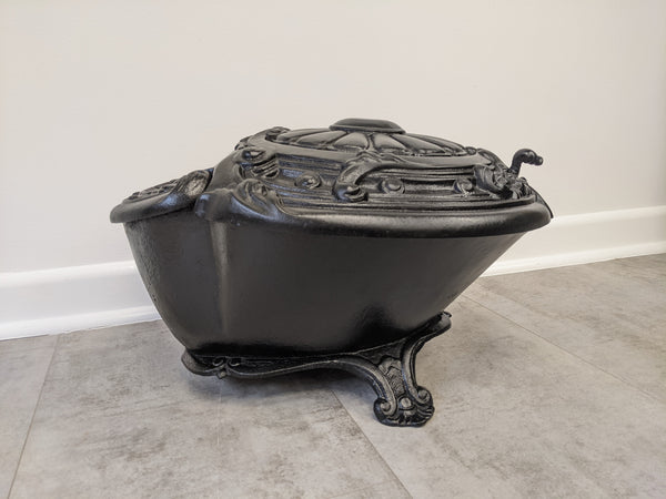 Unusual Cast Iron Victorian Coal Scuttle