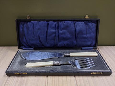 EPNS Boxed Fish Serving Set
