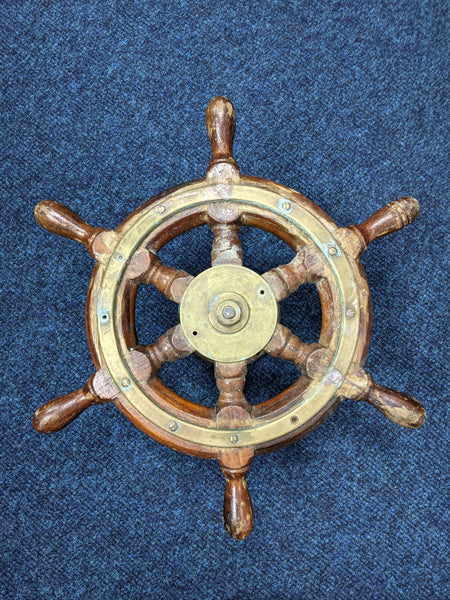 Medium Unrestored Ships Wheel