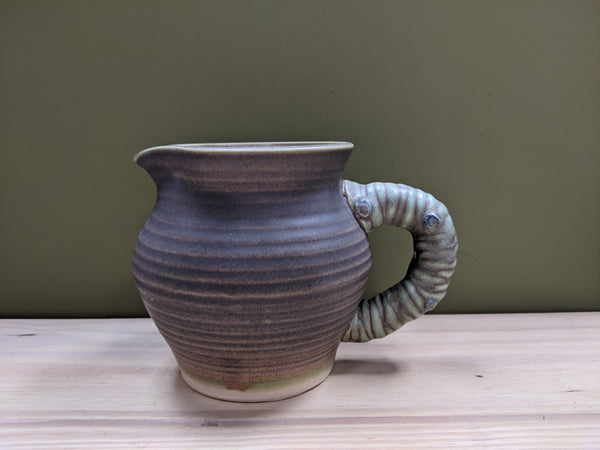 Matte Ribbed Studio Pottery Water Jug