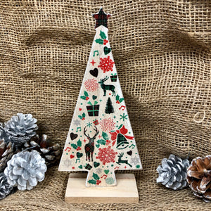 Tartan Wooden Christmas Tree