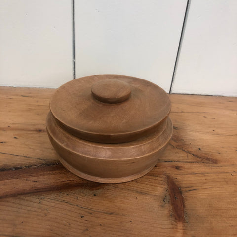 Wooden Lidded Pot