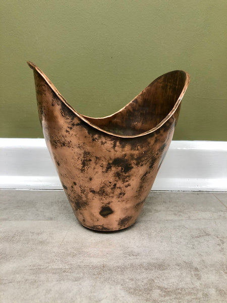 Signed Arts & Crafts Copper Vessel