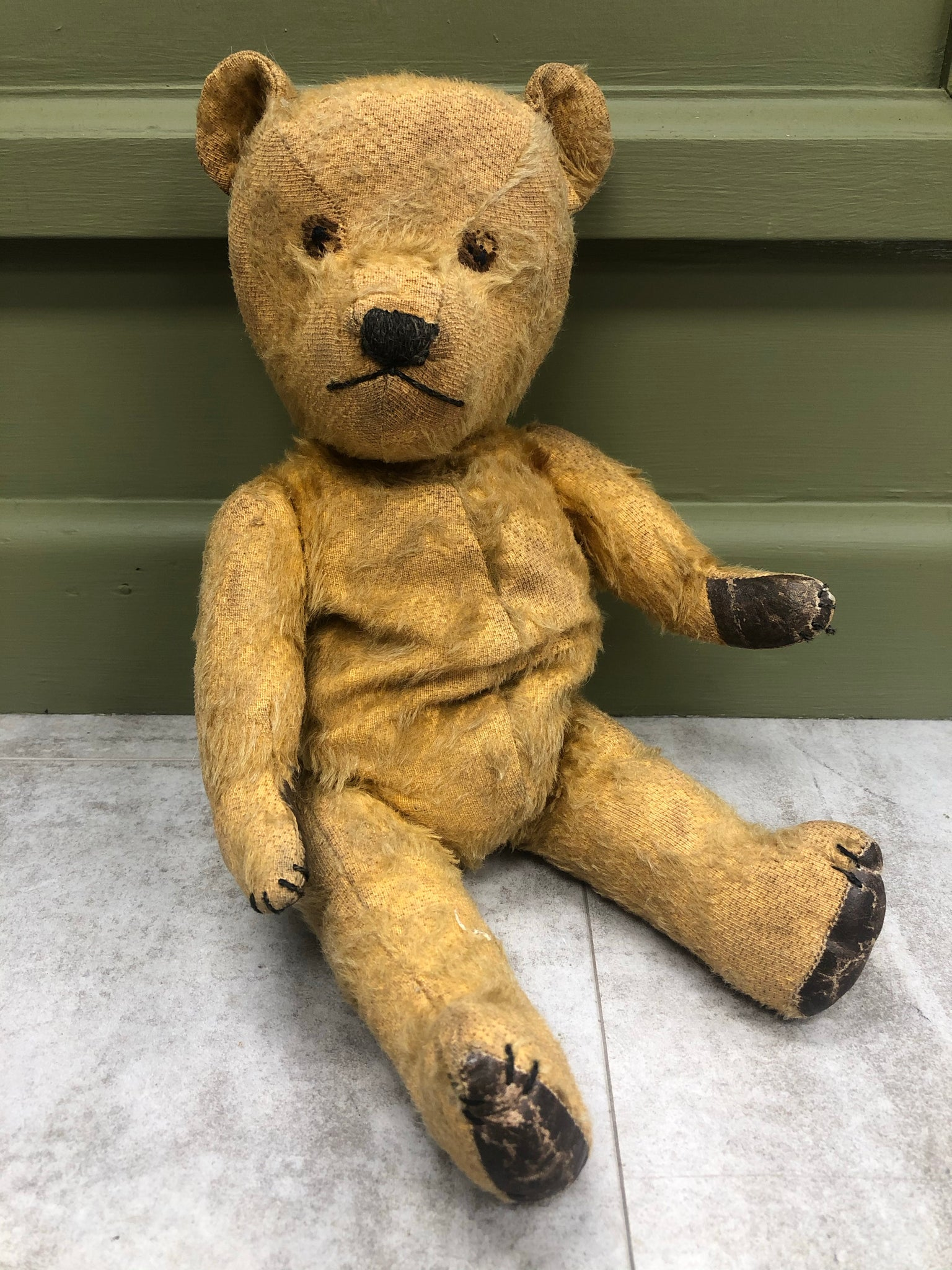 Early Stitched Eyed Growling Teddy Bear