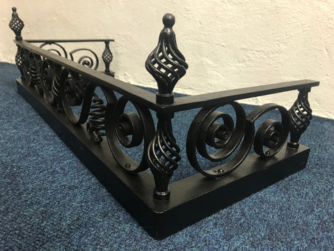 Hand Forged Wrought Iron Black Fender