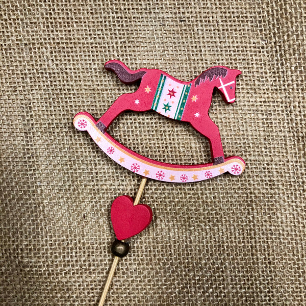 Rocking Horse on a Stick Decoration