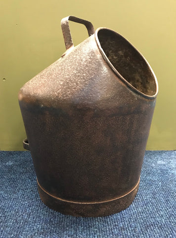 Unique Vintage Galvanised Coal Scuttle