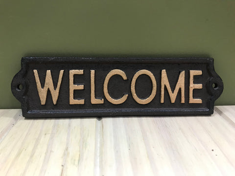Cast Iron Vintage Style Welcome Sign