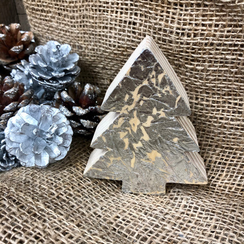 Silver Wooden Christmas Tree