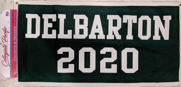 Banner - Class of- Green/White