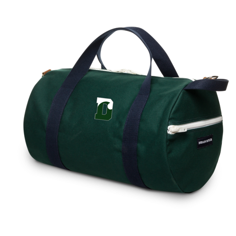 Duffle - SMALL green with Navy Blue Straps - Commuter