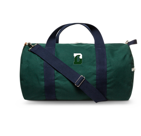 Duffle - Hudson Sutler - LARGE Green with Navy Blue Straps - Weekender