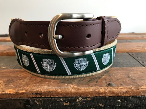 Belt - Delbarton - Green Crest